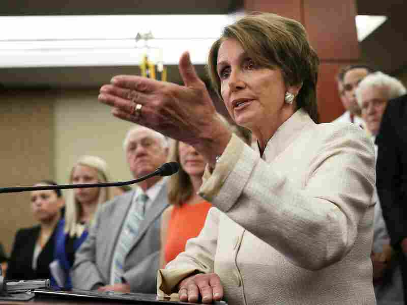 House Minority Leader Rep. Nancy Pelosi, D-CA,  speaks during a news conference about the House vote to repeal the Affordable Care Act. Despite the passage of the Republican-led repeal initiative, Democratic leaders say they see public opinion swinging towards support for the landmark reform bill.