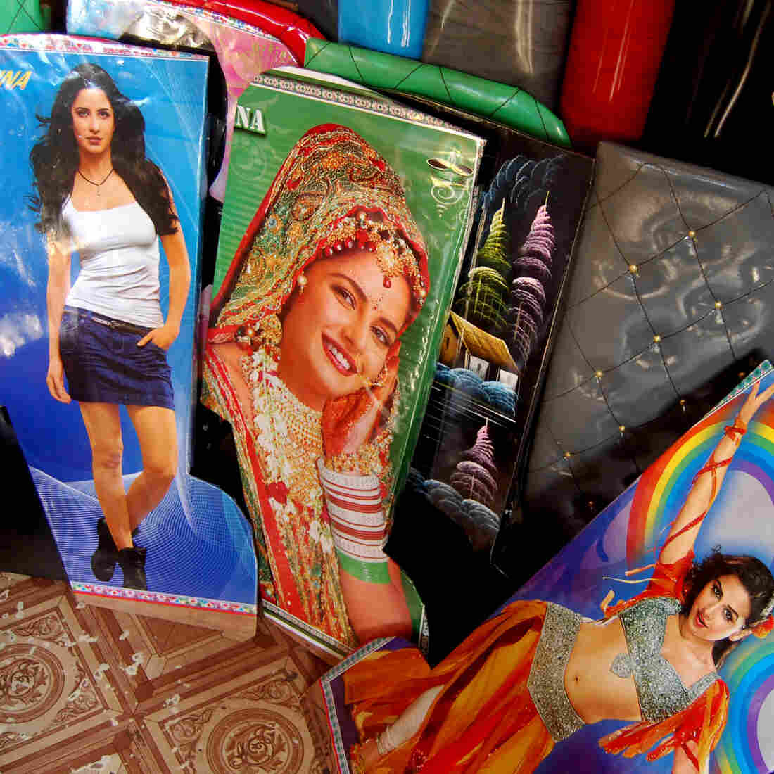 You know you want one: rickshaw seat covers emblazoned with Bollywood stars. It's just one way New Delhi rickshaw drivers are trying to outdo each other in the battle for passengers.