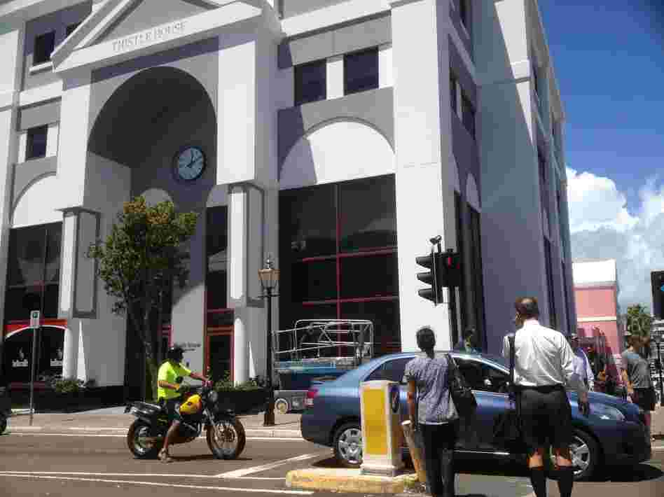 The Thistle House in Hamilton, Bermuda, is listed as the address of Mitt Romney's Bermuda corporation.