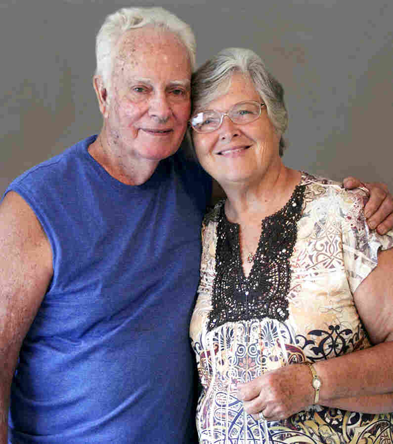 """Freddie Wood and Wilma Sue Wood, the former postmaster in Evinston, Fla. Wilma Sue says people visit the post office to learn """"who's had a baby; who's died."""""""