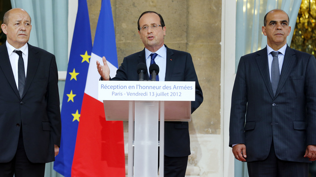 To combat France's debt, President Francois Hollande, seen here on Friday, has proposed a 75 percent tax rate on those who earn more than 1 million euros a year.