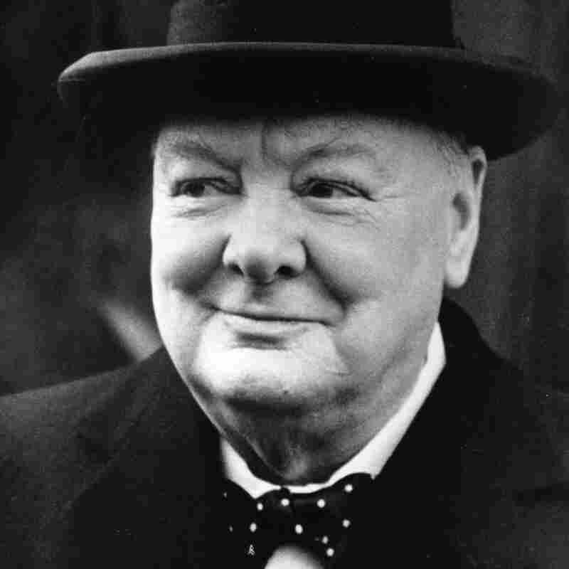 British Prime Minister Winston Churchill (1874 - 1965) and English statesman.
