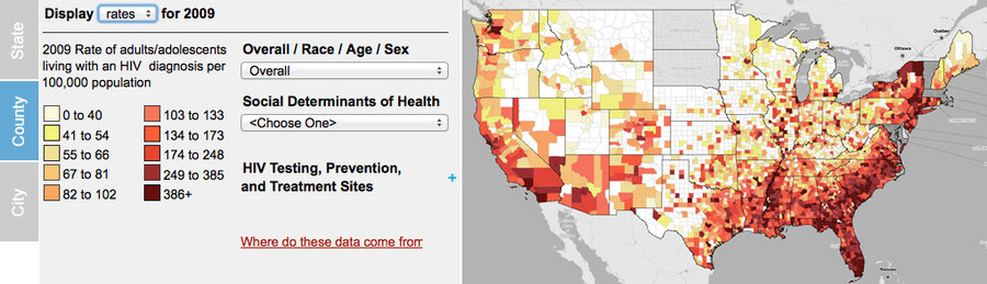 US AIDS Cases Come Into View Shots Health News NPR - Hiv us map