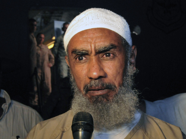 Ibrahim al-Qosi, shown here on July 11 in Khartoum, Sudan, was released from Guantanamo Bay prison this week after spending a decade there. He was Osama bin Laden's former driver, and he pleaded guilty to charges of conspiracy with al-Qaida and supporting terrorism. There are now 168 prisoners remaining at Guantanamo. (Reuters/Landov)