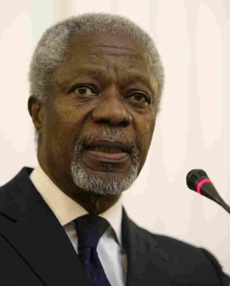 "Kofi Annan says he is ""shocked and appalled"" by reports of a mass killing in the Syrianvillage of Tremseh."