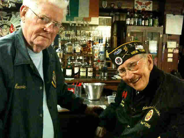 Navy veteran Howard Dunn and Army veteran Tom Kaine remember when the Red Cross briefly charged servicemen for doughnuts during World War II. Many veterans still resent it.