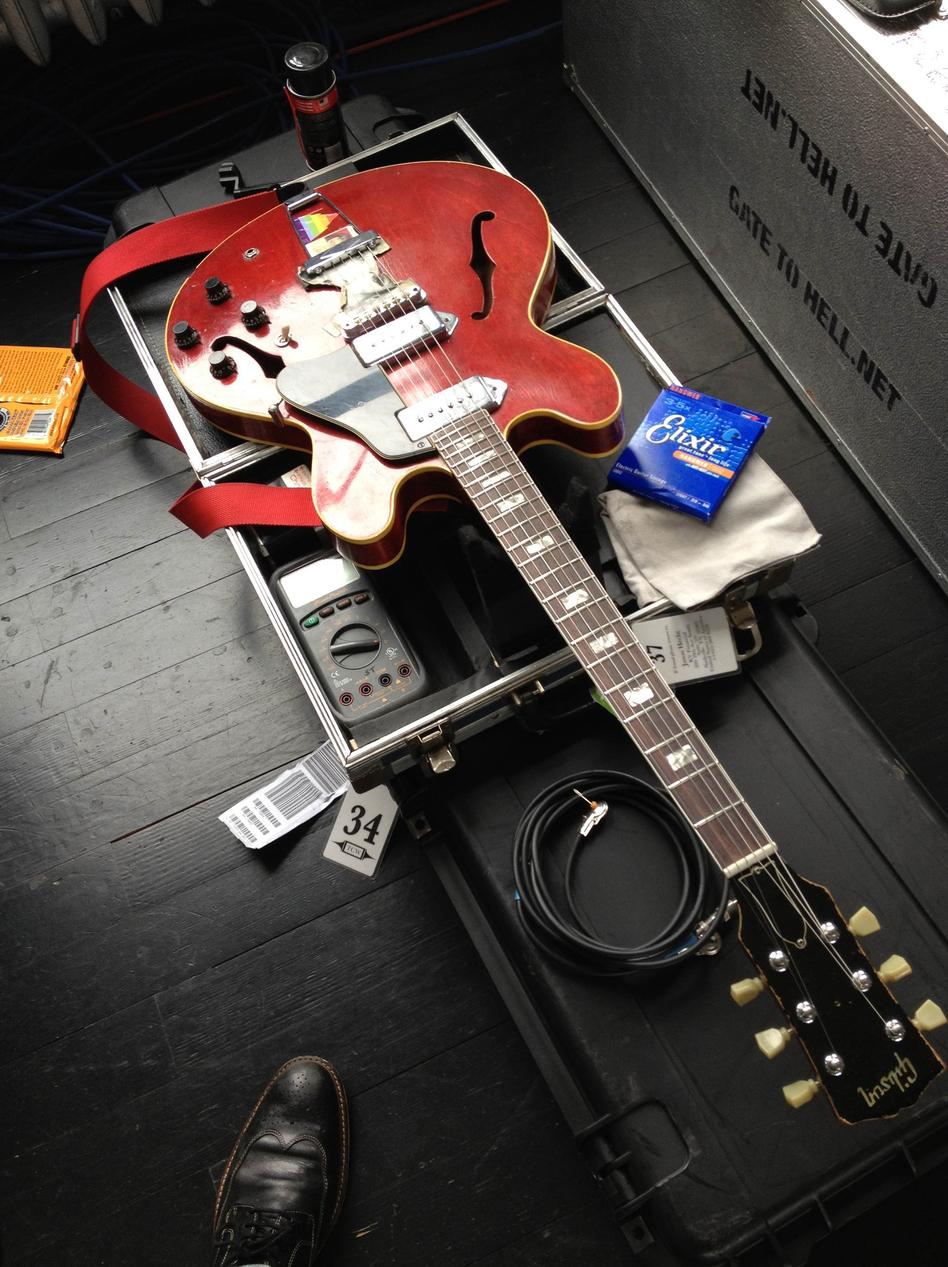 A Tech's Nemesis: Jack Antonoff's 1968 Gibson ES-330 electric guitar. (Shane Timm)