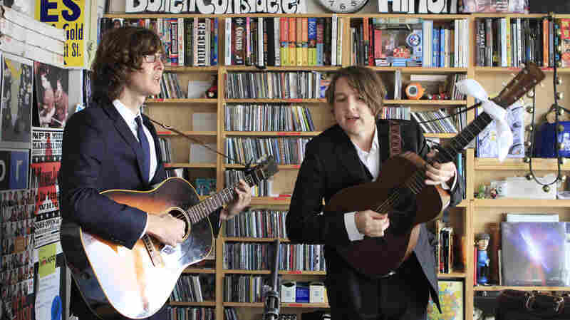 The Milk Carton Kids perform a Tiny Desk Concert in May 2012.