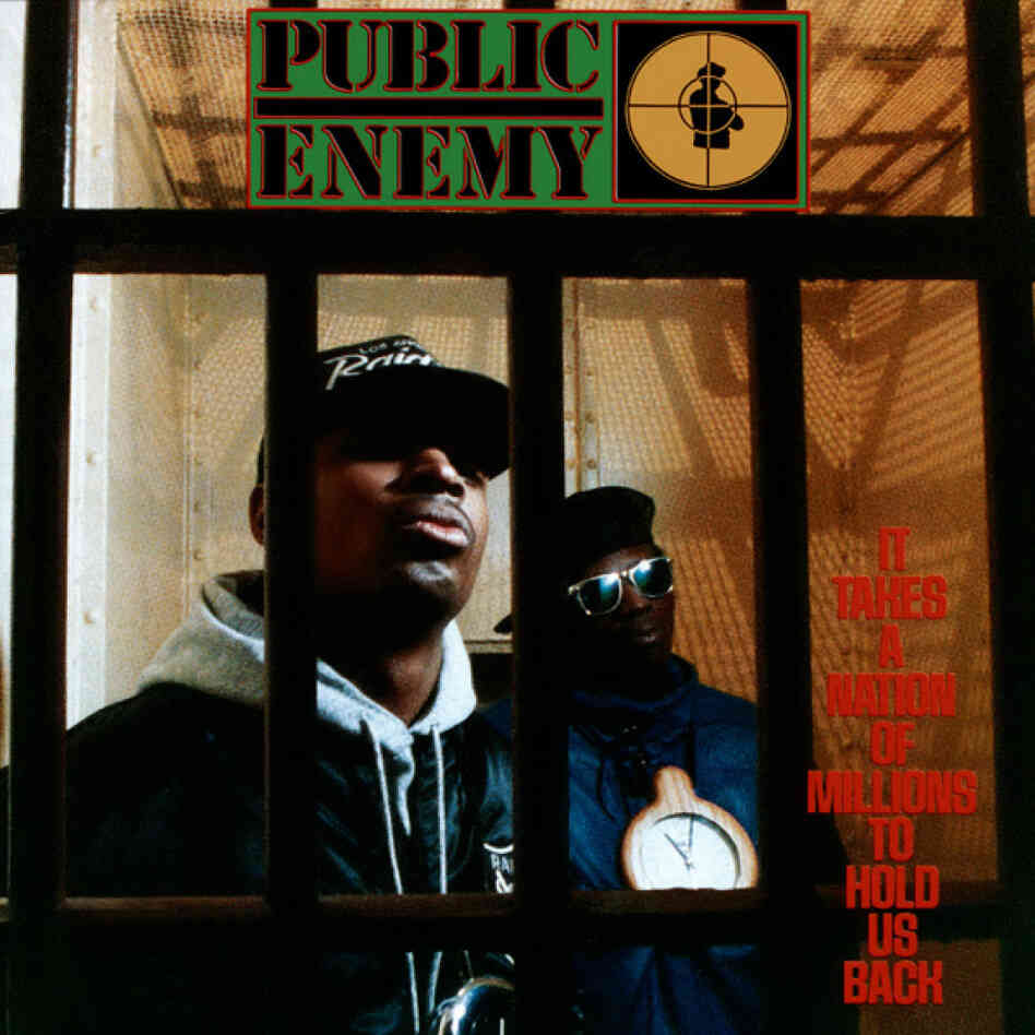 Cover of Public Enemy's 1988 album It Takes a Nation of Millions to Hold Us Back.