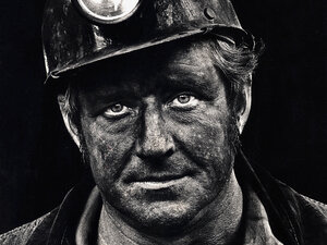 Coal miner Lee Hipshire in 1976, shortly after emerging from a mine in Logan County, W.Va., at the end of his shift. A few years later, Lee took early retirement because of pneumoconiosis, or black lung disease. He died at 57.