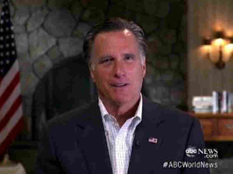 Mitt Romney appears on ABC News in one of the five TV interviews he did Friday. He mostly responded to comments from the Obama campaign about his role at Bain Capital.