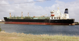 An tanker ship waiting to be recycled. Even ships that appear to be in good working condition are valuable as scrap metal.