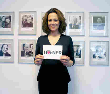 Sigourney Weaver at NPR New York.