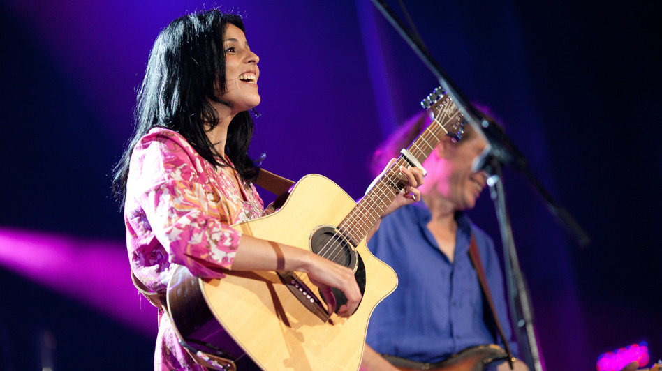 Souad Massi performs earlier this month at the Montreal International Jazz Festival. (Courtesy of the artist)