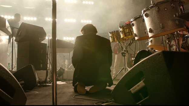James Murphy on stage at Madison Square Garden last year, during LCD Soundsystem's final concert. (Oscilloscope Laboratories)