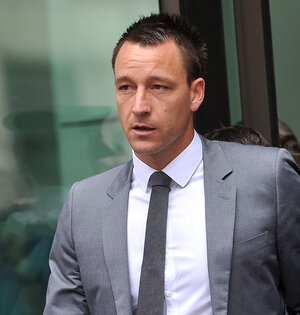 John Terry as he left court today in London.