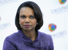 Condoleezza Rice, shown here visiting a school in Moscow in 2011, is the latest rumored choice for Mitt Romney's running mate.
