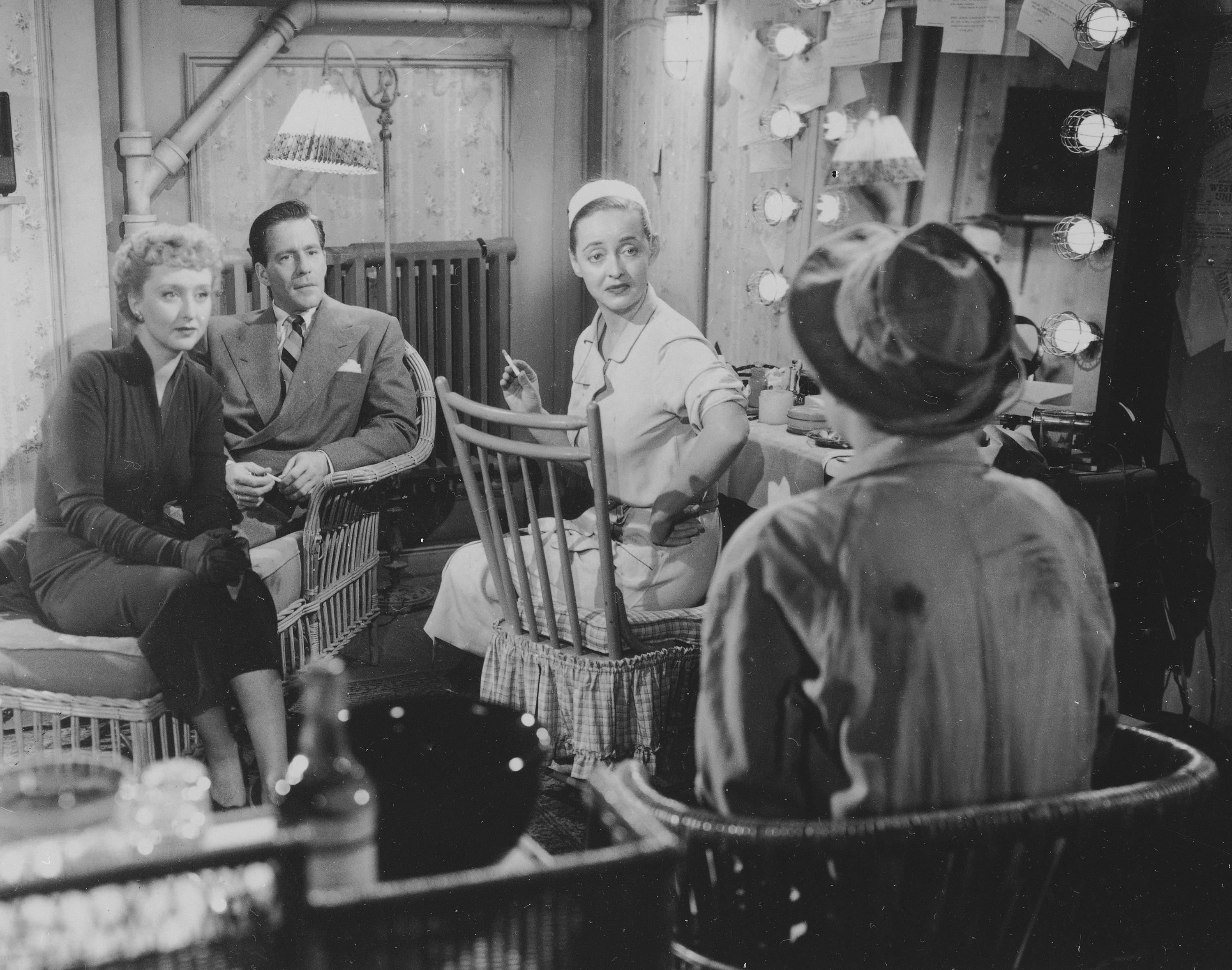 Holm played Bette Davis' best friend in the 1950 movie, All About Eve.