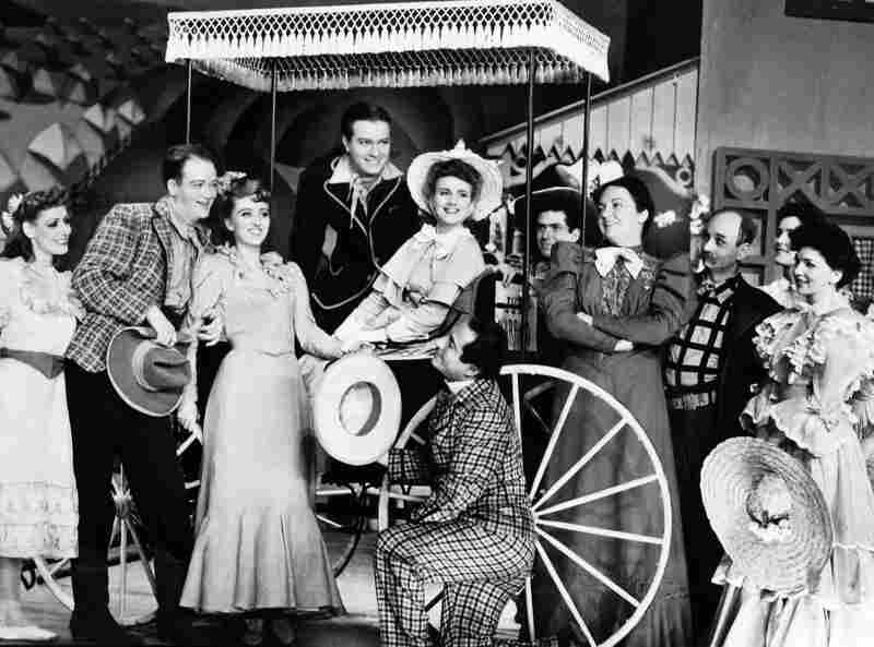 Her Broadway breakout role was Ado Annie (holding the hat) in the 1943 musical Oklahoma!