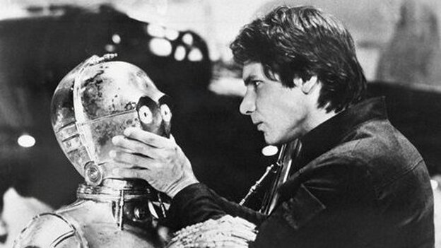 Actor Harrison Ford as Han Solo in Star Wars Episode V: The Empire Strikes Back. (AP)