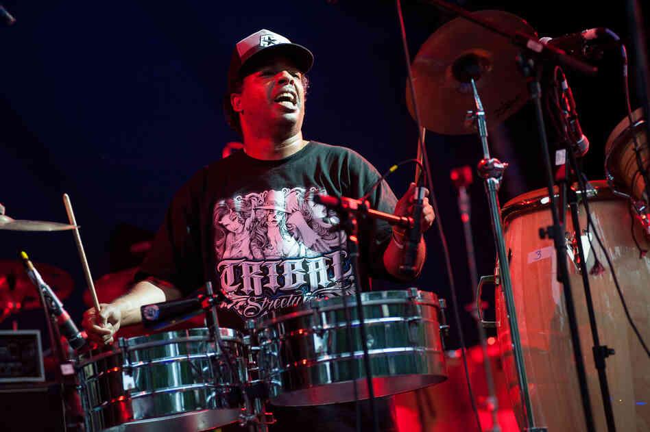 Ritmo Machine is a project of Mixmaster Latin Bitman and Cypress Hill's Eric Bobo.