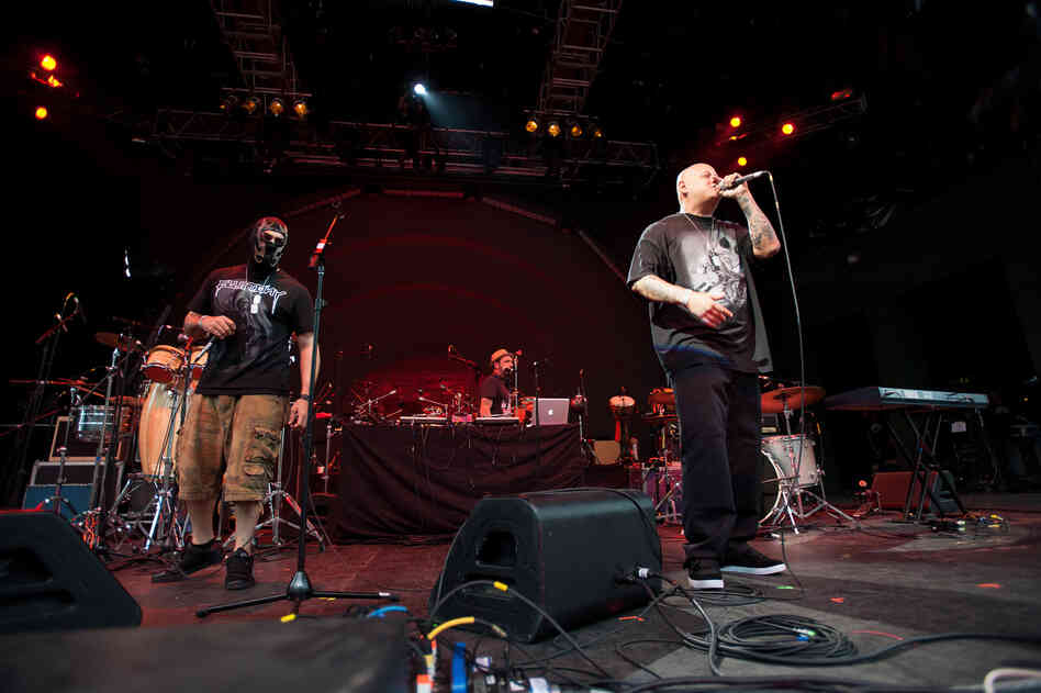 The band is joined by the L.A. rappers in Psycho Realm.