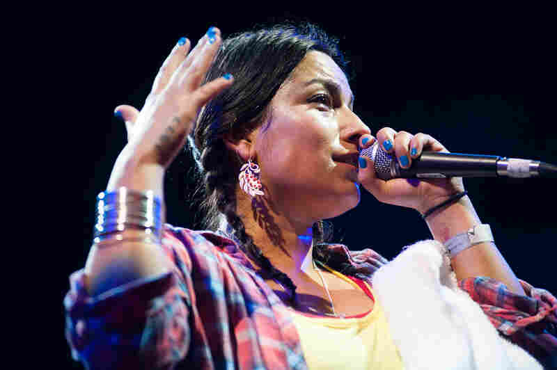 Tijoux is a lyrical machine gun, delivering verses rapidly and never missing her target. She raps about personal tales of growing up as a Chilean exile, among other topics both universal and political.