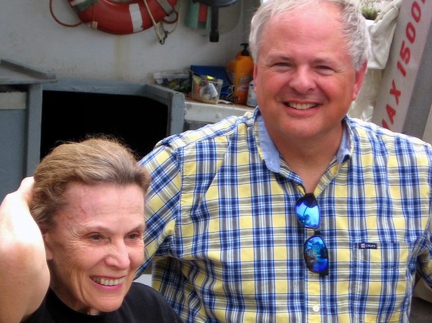 Researchers Sylvia Earle (left) and Mark Patterson are trying to raise funds to save the Aquarius Reef Base. (NPR)