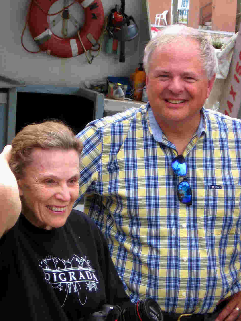Researchers Sylvia Earle (left) and Mark Patterson are trying to raise funds to save the Aquarius Reef Base.