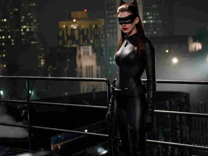 Selina Kyle, aka Catwoman (Anne Hathaway), is one of the characters proficient in Occupy-style talking points in The Dark Knight Rises.
