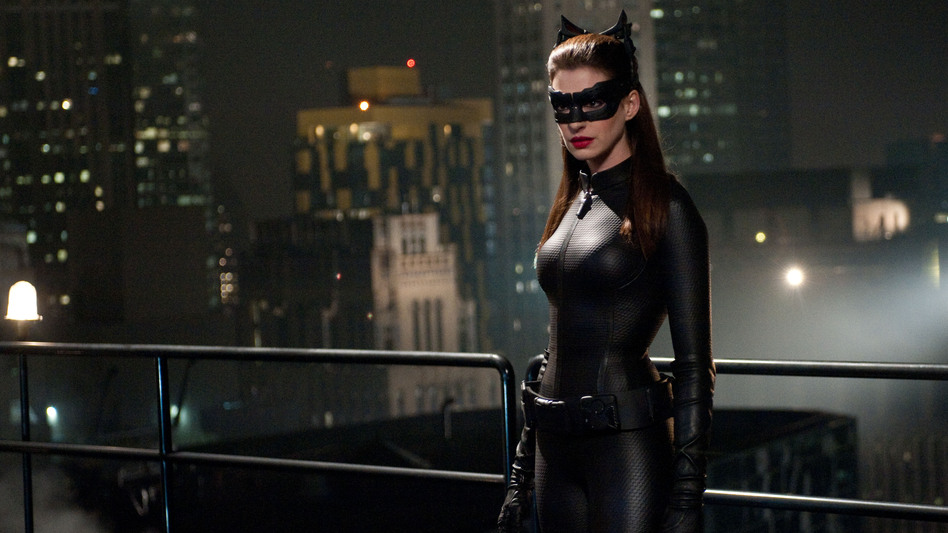 Selina Kyle, aka Catwoman (Anne Hathaway), is one of the characters proficient in Occupy-style talking points in The Dark Knight Rises.  (Warner Bros. Pictures)