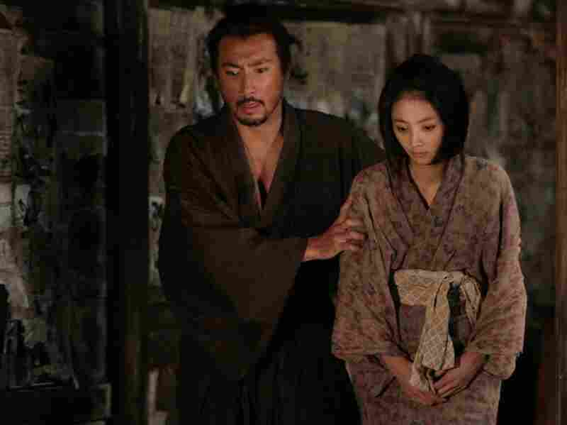 Hanshiro and Miho (Hikari Mitsushima) in one of the many flashbacks that director Takashi Miike uses to unfold the plot in Hara-Kiri: Death of a Samurai.