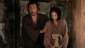 Hanshiro and Miho (Hikari Mitsushima) in one of the many flashbacks that director Takashi Miike uses to unfold the plot in Hara-Kiri: Death of a Samurai.