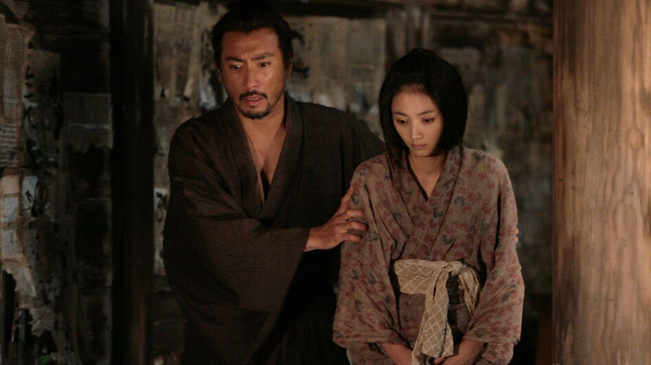 Hanshiro and Miho (Hikari Mitsushima) in one of the many flashbacks that director Takashi Miike uses to unfold the plot in Hara-Kiri: Death of a Samurai. (Tribeca Film)