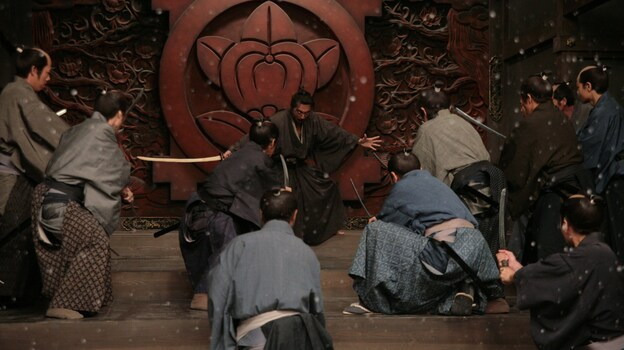 Hara-Kiri: Death of a Samurai is set in an era in which some underemployed warriors would bluff their willingness to commit ritual suicide, hoping for money or employment from wealthy families who didn't want to deal with the mess. Hanshiro's (Ebizo Ichikawa) own bluff in the film, however, goes deeper. (Tribeca Film)
