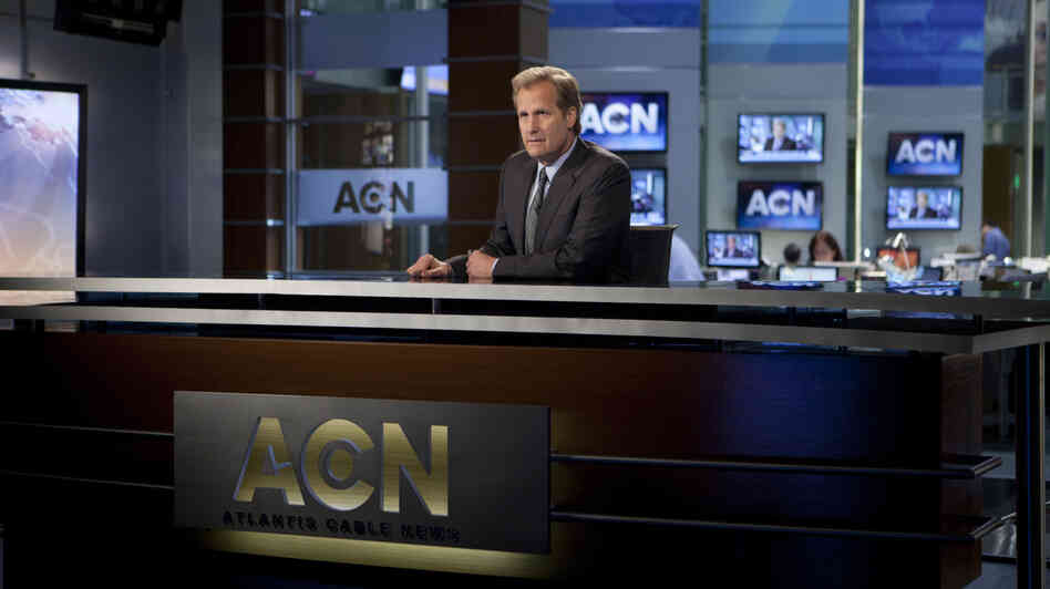 On Aaron Sorkin's latest drama The Newsroom, Will McAvoy (Jeff Daniels) pledges to cover stories because they're important, not because they get rat