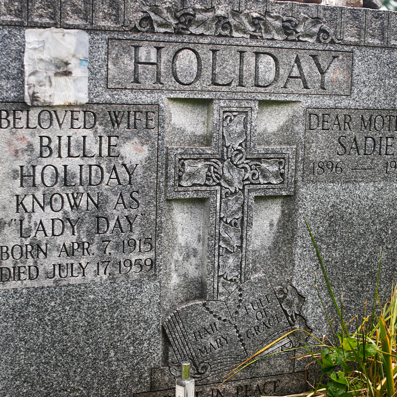 Billie Holiday, who died on July 17, 1959, is buried alongside her mother, Sadie Fagan, in St. Raymond's Cemetery in the Bronx.