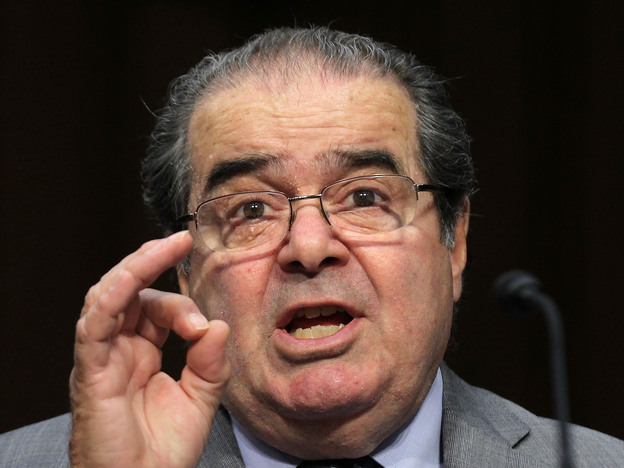 Justice Antonin Scalia testifies before the Senate Judiciary Committee on Oct. 5, 2011.