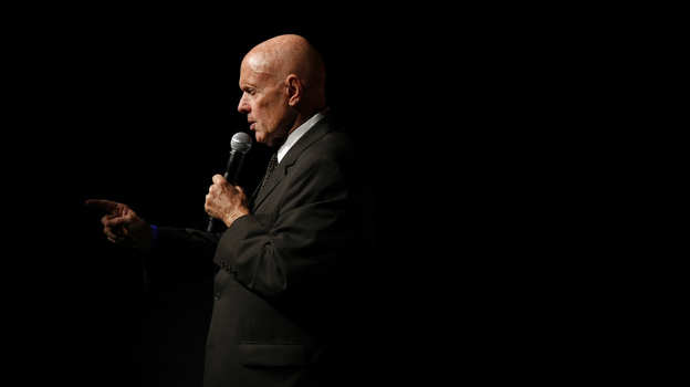 Stephen Covey speaks to students at the National Auditorium in Mexico City in September 2008. Covey's The 7 Habits of Highly Effective People has sold more than 25 million copies worldwide. Covey died Monday. He was 79.