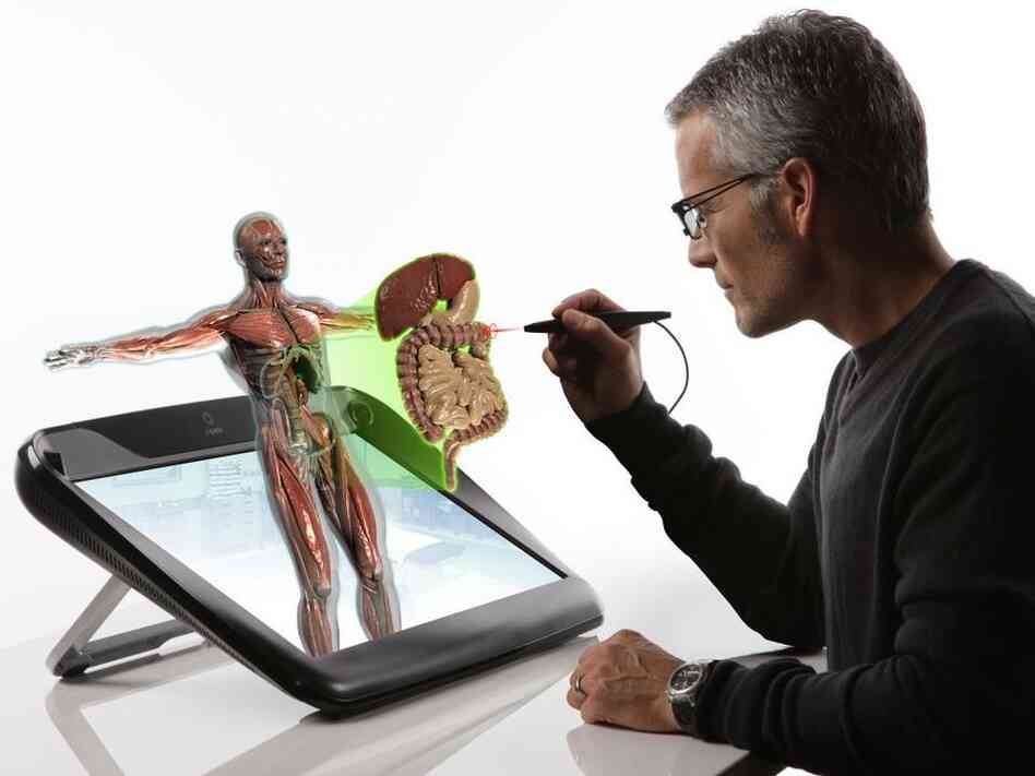 Infinite Z, a tech company funded by the CIA's venture capital fund In-Q-Tel, has developed 3-D imaging technology that allows users to interact with holographic images.