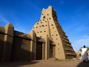 The Sankore mosque in Timbuktu dates from the 15th and 16th centuries. Islamist rebels who took over the city earlier this year have since started destroying ancient tombs and mosques like this one.