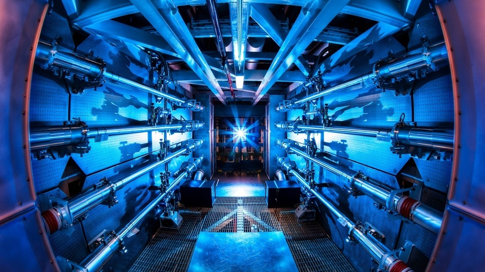 The preamplifiers of the National Ignition Facility are the first step in increasing the energy of laser beams as they make their way toward the target chamber. (National Ignition Facility)