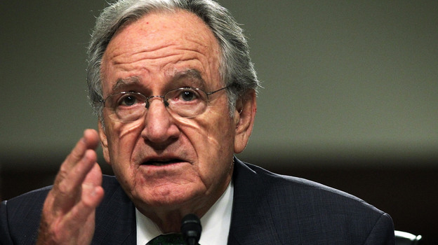 Democratuic Sen. Tom Harkin of Iowa, who was involved in writing the health law, rejects claims that federal health exchanges won't be able to provide tax credits. (Getty Images)