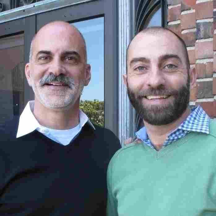 Kevin Kirk (left) and James Callahan have been together for more than five years. Recently they sat down and talked about whether Kevin, who is HIV-negative, might want to start taking Truvada.