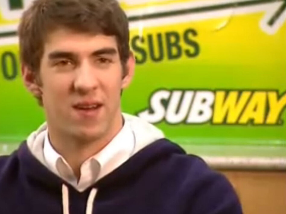 Olympic swimmer Michael Phelps signed an endorsement deal with Subway in 2008, but because Subway is not an Olympic sponsor, Phelps isn't allowed to appear in a Subway ad from July 18 to Aug. 15 2012.