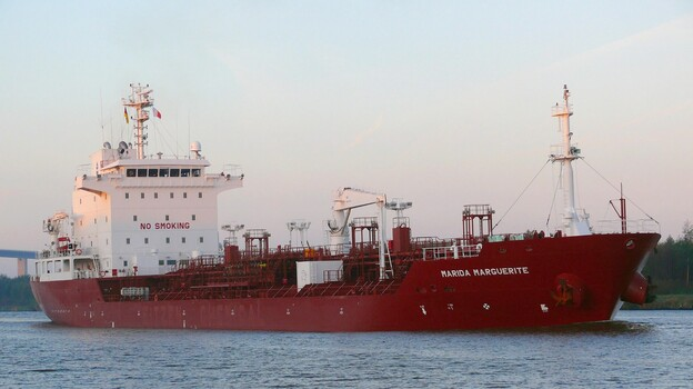 The German tanker Marida Marguerite, which was hijacked off the coast of Oman in 2010. (EPA/Landov)