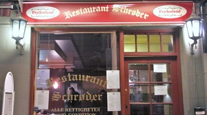 Around the corner from Henry Hole's fictional flat, Restaurant Schroder serves up real, traditional Norwegian food.