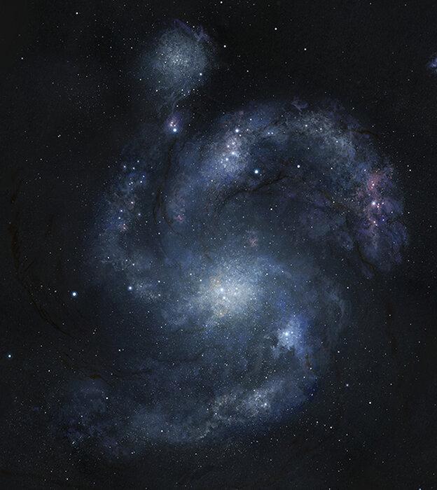 An artist's rendering of galaxy BX442.