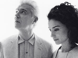 David Byrne and St. Vincent's Annie Clark