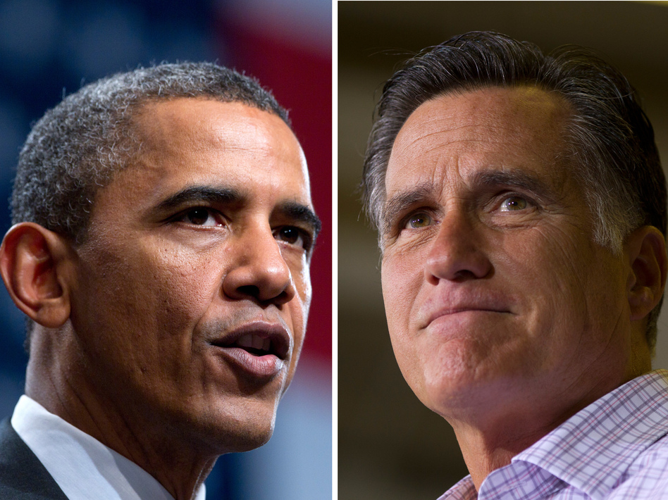 President Obama leads Mitt Romney 47 percent to 45 percent among all voters in a new NPR poll. But the two are tied among voters from 12 battleground states.